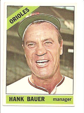 1966 Topps #229 Hank Bauer MG front image