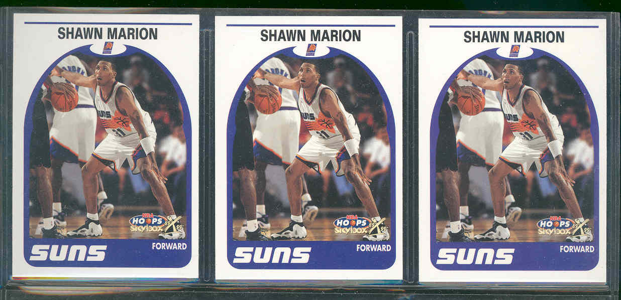 (3) Card Lot 1999-00 Hoops Decade #95 Shawn Marion Phoenix Suns Rookie