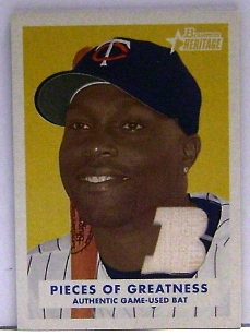 2006 Bowman Heritage Pieces of Greatness #TH Torii Hunter Bat B
