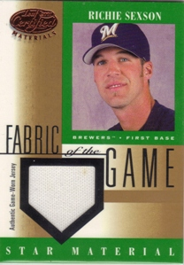2001 Leaf Certified Materials Fabric of the Game #85BA Richie Sexson