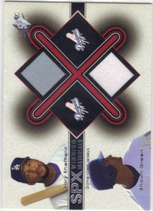 2001 SPx Winning Materials Update Duos #GSSG Gary Sheffield/Shawn Green