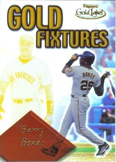 2001 Topps Gold Label Gold Fixtures #GF10 Barry Bonds
