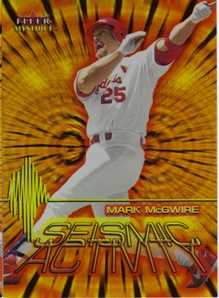 2000 Fleer Mystique Seismic Activity #SA4 Mark McGwire