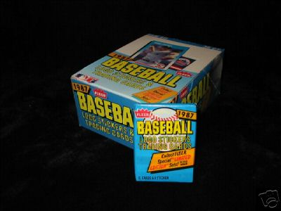 1987 FLEER BASEBALL WAX BOX - MINT - BARRY BONDS ROOKIE
