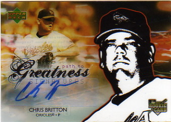 2006 Upper Deck Future Stars #153 Chris Britton AU RC