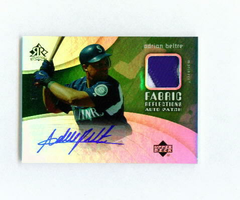 2005 Reflections Fabric Patch Autograph #AB Adrian Beltre