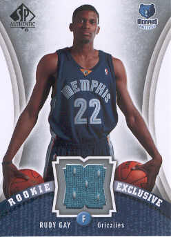 2006-07 SP Authentic Rookie Exclusives Jerseys #RG Rudy Gay