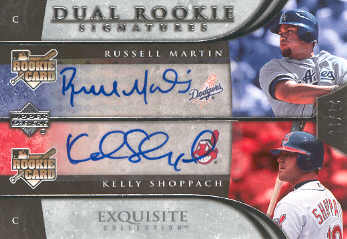 2006 Exquisite Collection #84 Shoppach (RC)/Martin (RC) front image