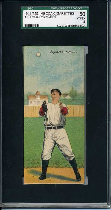 1911 Mecca Double Folders T201 #41 Cy Seymour/Jimmy Dygert