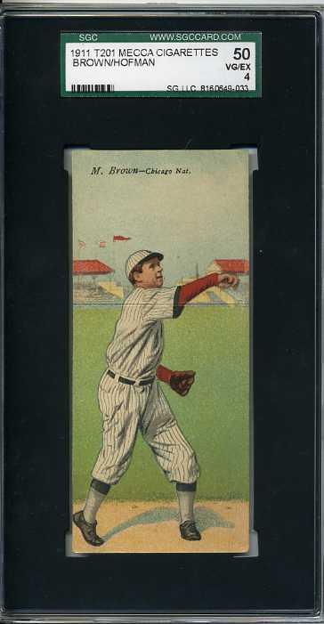 1911 Mecca Double Folders T201 #5 Mordecai Brown/Solly Hofman