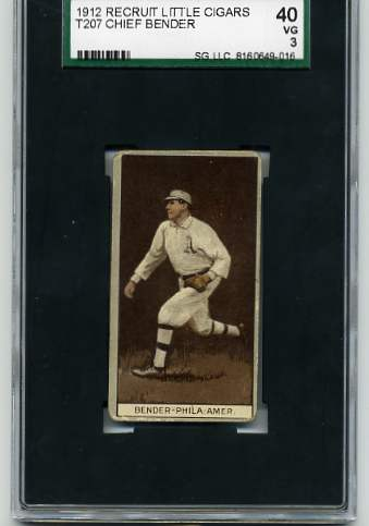 1912 T207 Brown Background #11 Chief Bender