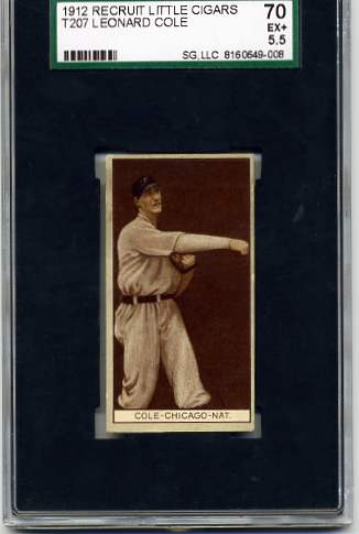 1912 T207 Brown Background #33 King Cole