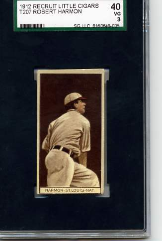 1912 T207 Brown Background #76 Robert Harmon