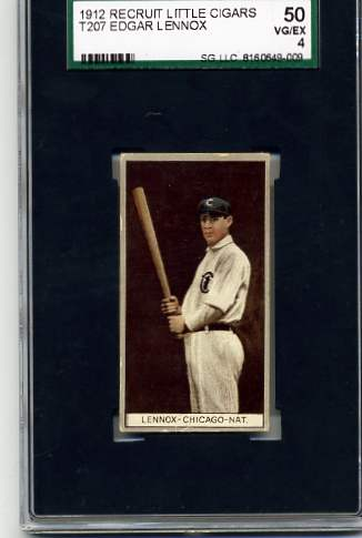 1912 T207 Brown Background #103 Ed Lennox