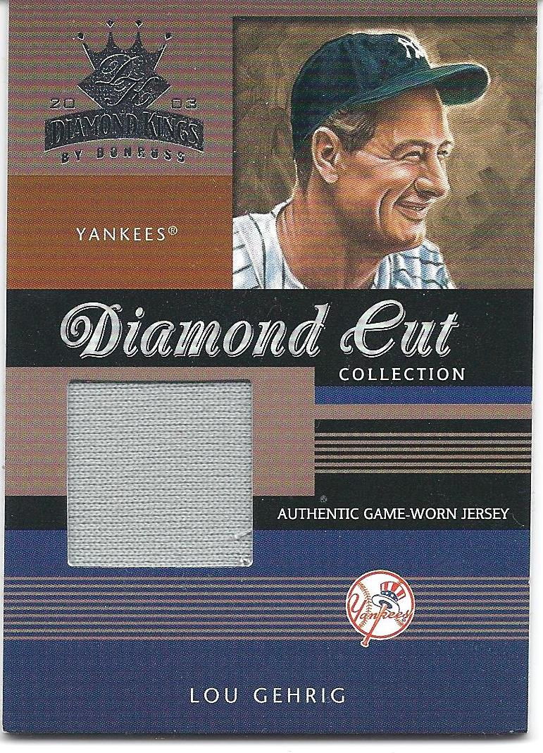 2003 Diamond Kings Diamond Cut Collection #38 Lou Gehrig Jsy/50