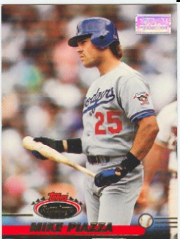 1993 Stadium Club First Day Issue #585 Mike Piazza front image