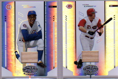 2004 Leaf Certified Materials Mirror Bat White #238 Ernie Banks LGD/50