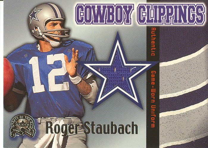 2000 Greats of the Game Cowboy Clippings #10CCL Roger Staubach