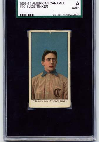 1909-11 American Caramel E90-1 #110 Joe Tinker