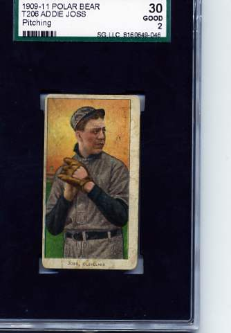 1909-11 T206 #244 Addie Joss Pitching