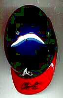 Chipper Jones autographed ( signed ) Atlanta Braves mini-helmet