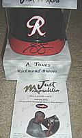 Andruw Jones autographed ( signed ) mini-helmet