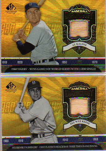 2006 SP Legendary Cuts Baseball Chronology Materials #AK Al Kaline Bat