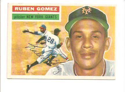 1956 Topps #9A Ruben Gomez GB