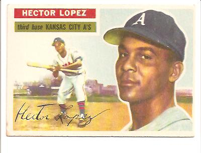 1956 Topps #16 Hector Lopez RC