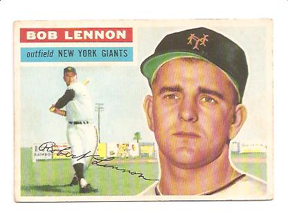1956 Topps #104 Bob Lennon