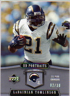 2005 UD Portraits Platinum #79 LaDainian Tomlinson