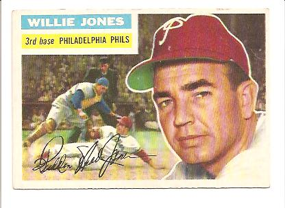 1956 Topps #127 Willie Jones