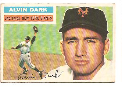 1956 Topps #148A Alvin Dark WB