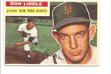 1956 Topps #325 Don Liddle