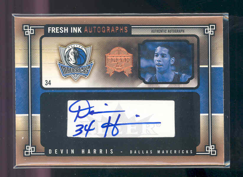 2004-05 SkyBox Fresh Ink Autographs #DH Devin Harris
