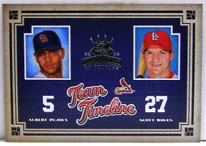 2005 Diamond Kings Team Timeline #1 A.Pujols/S.Rolen