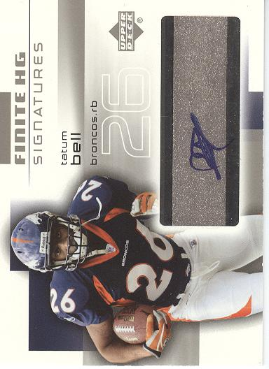 2004 Upper Deck Finite HG Signatures #FSTB Tatum Bell