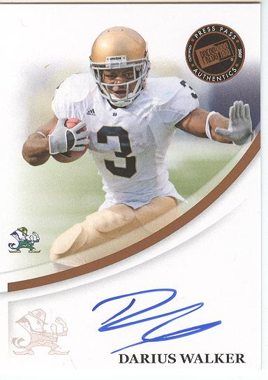 2007 Press Pass Autographs Bronze #65 Darius Walker