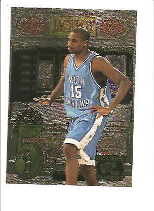 1998 Press Pass Double Threat Jackpot #J2B Vince Carter front image