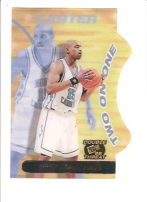 1998 Press Pass Double Threat Two-On-One #TO10 Vince Carter