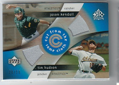 2005 Reflections Cut From the Same Cloth Dual Jersey Blue #KH Jason Kendall/Tim Hudson
