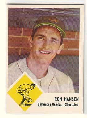 1963 Fleer #2 Ron Hansen