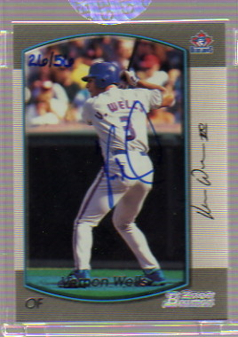 2006 Bowman Originals Buyback Autographs #817 Vernon Wells 00 B/56 F