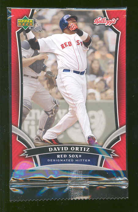2007 Upper Deck Kellog's Japanese Issue #6 David Ortiz Red Sox Still sealed in pack RARE