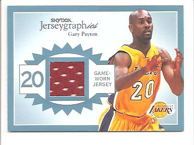 2003-04 SkyBox Autographics Jerseygraphics #GP Gary Payton/350