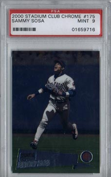2000 Stadium Club Chrome Baseball #175 Sammy Sosa Mint PSA 9 NICE!