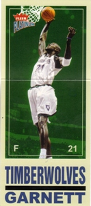 2003-04 Fleer Platinum Big Signs #1 Kevin Garnett