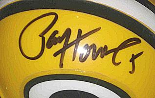 PAUL HORNUNG autographed ( signed ) Green Bay Packers mini-helmet