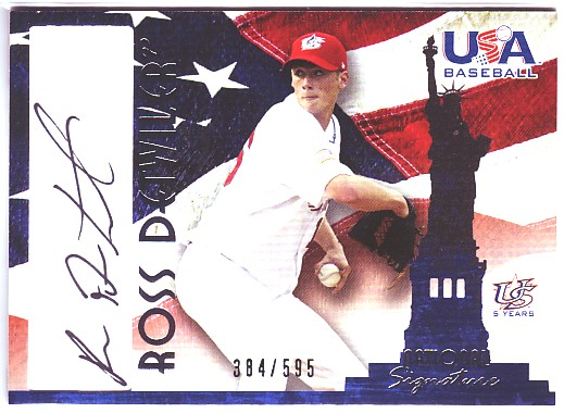 2006-07 USA Baseball Signatures Black #10 Ross Detwiler