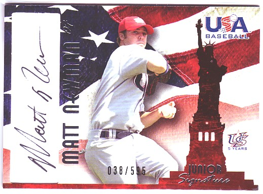 2006-07 USA Baseball Signatures Black #24 Matt Newman